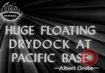Image of US Navy Floating dry dock in Pacific Ocean Pacific Theater, 1945, second 3 stock footage video 65675046769