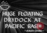 Image of US Navy Floating dry dock in Pacific Ocean Pacific Theater, 1945, second 4 stock footage video 65675046769