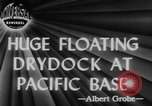 Image of US Navy Floating dry dock in Pacific Ocean Pacific Theater, 1945, second 5 stock footage video 65675046769