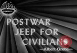 Image of post war jeep Toledo Ohio USA, 1944, second 4 stock footage video 65675046772