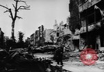 Image of damaged buildings Berlin Germany, 1945, second 12 stock footage video 65675046779