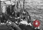 Image of fishing boat at work Atlantic Ocean Massachusetts United States USA, 1935, second 2 stock footage video 65675046885