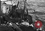 Image of fishing boat at work Atlantic Ocean Massachusetts United States USA, 1935, second 10 stock footage video 65675046885