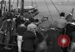 Image of crowd watches Canadian boat Boston Massachusetts USA, 1935, second 7 stock footage video 65675046901