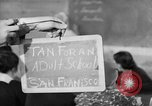 Image of Japanese internees adult education San Bruno California USA, 1942, second 3 stock footage video 65675046922