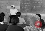 Image of Japanese internees adult education San Bruno California USA, 1942, second 5 stock footage video 65675046922