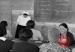 Image of Japanese internees adult education San Bruno California USA, 1942, second 6 stock footage video 65675046922