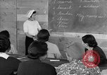 Image of Japanese internees adult education San Bruno California USA, 1942, second 8 stock footage video 65675046922
