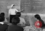 Image of Japanese internees adult education San Bruno California USA, 1942, second 9 stock footage video 65675046922