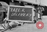 Image of paper delivery California United States USA, 1942, second 2 stock footage video 65675046924