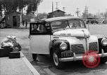 Image of Japanese internee arrives by taxi Santa Anita California USA, 1942, second 7 stock footage video 65675046926
