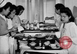 Image of Japanese internment hospital diet kitchen Santa Anita California USA, 1942, second 4 stock footage video 65675046928