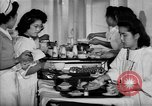 Image of Japanese internment hospital diet kitchen Santa Anita California USA, 1942, second 5 stock footage video 65675046928
