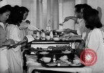 Image of Japanese internment hospital diet kitchen Santa Anita California USA, 1942, second 7 stock footage video 65675046928