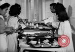 Image of Japanese internment hospital diet kitchen Santa Anita California USA, 1942, second 8 stock footage video 65675046928