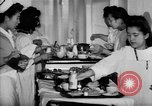 Image of Japanese internment hospital diet kitchen Santa Anita California USA, 1942, second 10 stock footage video 65675046928