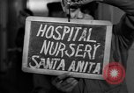 Image of Japanese internment center infant nursery Santa Anita California USA, 1942, second 3 stock footage video 65675046931
