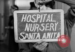 Image of Japanese internment center infant nursery Santa Anita California USA, 1942, second 4 stock footage video 65675046931