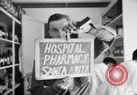 Image of Japanese internment center hospital pharmacy Santa Anita California USA, 1942, second 2 stock footage video 65675046932
