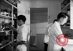 Image of Japanese internment center hospital pharmacy Santa Anita California USA, 1942, second 5 stock footage video 65675046932