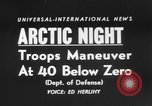 "Image of air borne ""Operation Arctic Night."" Thule Greenland, 1956, second 4 stock footage video 65675046951"