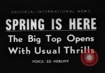 Image of Spring circus New York City USA, 1956, second 1 stock footage video 65675046952