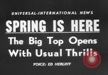 Image of Spring circus New York City USA, 1956, second 3 stock footage video 65675046952