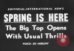 Image of Spring circus New York City USA, 1956, second 5 stock footage video 65675046952