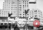 Image of El Cortez hotel glass elevator San Diego California USA, 1956, second 2 stock footage video 65675046956