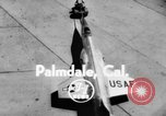 Image of F-10 Starfighter Jet Palmdale California USA, 1956, second 2 stock footage video 65675046964
