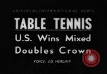 Image of table tennis championship Tokyo Japan, 1956, second 1 stock footage video 65675046967