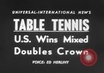 Image of table tennis championship Tokyo Japan, 1956, second 2 stock footage video 65675046967