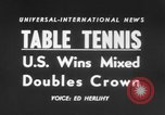 Image of table tennis championship Tokyo Japan, 1956, second 3 stock footage video 65675046967