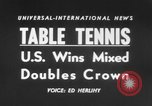 Image of table tennis championship Tokyo Japan, 1956, second 4 stock footage video 65675046967