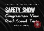 Image of automobile safety show Chelsea Michigan USA, 1956, second 1 stock footage video 65675046972