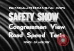 Image of automobile safety show Chelsea Michigan USA, 1956, second 4 stock footage video 65675046972