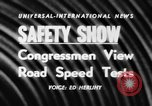 Image of automobile safety show Chelsea Michigan USA, 1956, second 5 stock footage video 65675046972