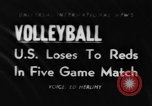 Image of world volleyball championship Paris France, 1956, second 1 stock footage video 65675046973