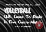 Image of world volleyball championship Paris France, 1956, second 4 stock footage video 65675046973