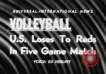Image of world volleyball championship Paris France, 1956, second 5 stock footage video 65675046973