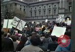 Image of protest meeting Harrisburg Pennsylvania USA, 1979, second 10 stock footage video 65675047060