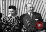 Image of Sir Hubert and Lady Wilkins speaking on arrival aboard the Hindenburg Lakehurst New Jersey USA, 1936, second 2 stock footage video 65675047077
