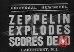 Image of explosion of Hindenburg New Jersey United States USA, 1937, second 6 stock footage video 65675047080