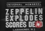 Image of explosion of Hindenburg New Jersey United States USA, 1937, second 7 stock footage video 65675047080