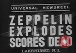 Image of explosion of Hindenburg New Jersey United States USA, 1937, second 8 stock footage video 65675047080