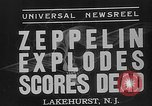 Image of explosion of Hindenburg New Jersey United States USA, 1937, second 9 stock footage video 65675047080