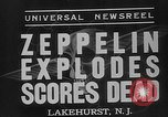 Image of explosion of Hindenburg New Jersey United States USA, 1937, second 10 stock footage video 65675047080