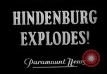 Image of explosion of Hindenburg New Jersey United States USA, 1937, second 2 stock footage video 65675047082