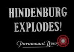 Image of explosion of Hindenburg New Jersey United States USA, 1937, second 3 stock footage video 65675047082