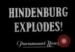 Image of explosion of Hindenburg New Jersey United States USA, 1937, second 4 stock footage video 65675047082